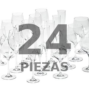 Las Mejores Cristalerías 24 Piezas